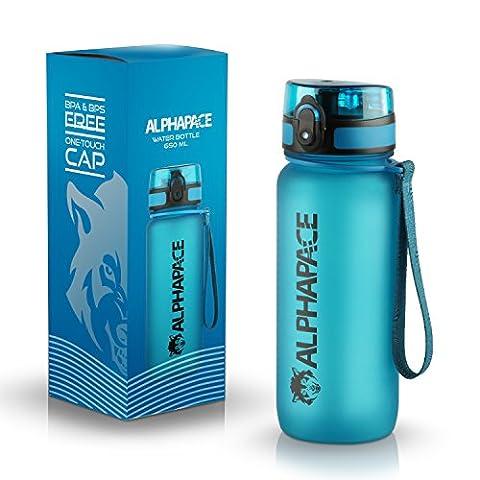 ALPHAPACE Sport Trinkflasche 1000ml und 650ml – getestet BPA frei und auslaufsicher – Premium Sportflasche aus Tritan – ideal für Sport, Schule, Reisen, Outdoor und Freizeit – 100% Zufriedenheitsversprechen