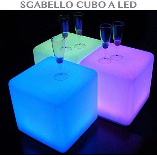 professional Tabouret Bar Cube Lumineux à LED Éclairage RGB ameublement extérieur et intérieur