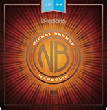 D 'Addario nbm1038 10–38 Light Nickel Bronze Mandoline Saiten