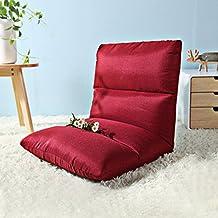 wysm Sofá de sofá perezoso solo 54 * 105 * 14cm dormitorio plegable silla de la espalda de la computadora del dormitorio de la cama ( Color : Rojo )