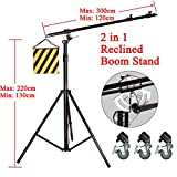 Doppel Heavy Duty 2-in-1-500CM Drehbare Studio Boom Stand Light 7KG