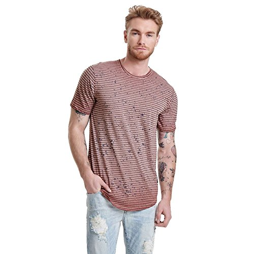 Only & Sons Splashy Long T-Shirt Copper Grau
