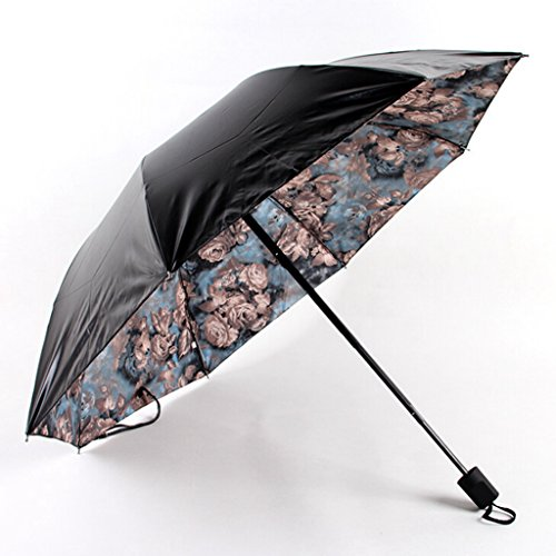 GTWP GT Regenschirm Manual Mode 3 Folding Umbrella Druckschirm stockschirm robuste winddicht Anti-UV-Sonnenschutz Dach Sonnenschirm