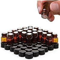 furnido 1ml/2ml/3ml Tiny Bernstein Glas ätherisches Öl Flasche mit Öffnung Reducer und schwarze Kappe Deckel... preisvergleich bei billige-tabletten.eu