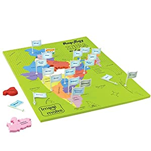 Imagimake Mapology India with State Capitals – Educational Toy and Learning Aid for Boys and Girls – Map Puzzle – Jigsaw…