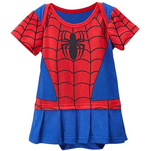 Spiderman Kleinkind Kostüme Schwarze (Spidergirl 18-24 Monate Baby Kleinkind Mädchen Spielanzug Party Spiel Kleid)