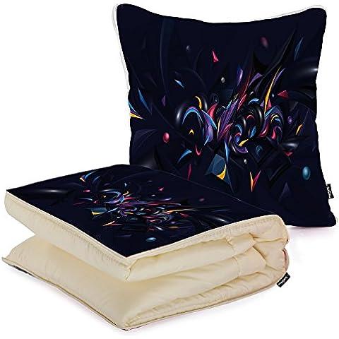 i FaMuRay Custom Home and Office Folded Blanket Pillow, Purple Swirls