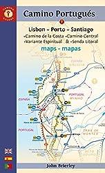 Mapa Guía del Camino Portugués. Lisbon-Porto-Santiago. Camino Guides. (Maps) [Idioma Inglés]