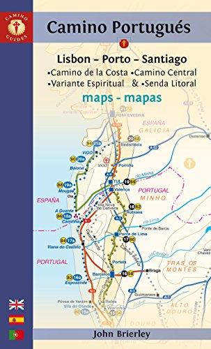 Mapa Guía del Camino Portugués. Lisbon-Porto-Santiago. Camino Guides. (Maps) por John Brierley