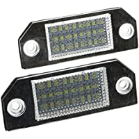 Sodial 23403 Bombilla LED Luces Placa, 2 Unidades, 12V, Blanco