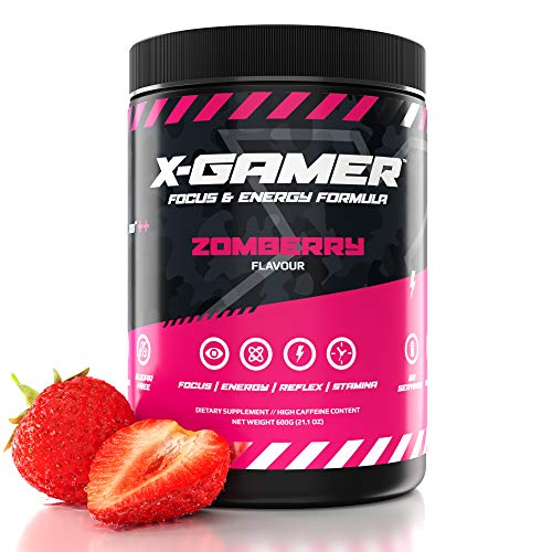 X-Gamer X-Tubz - Gaming Booster Pulver - Shake It Yourself - 600g ( 60 servings ) (Zomberry)