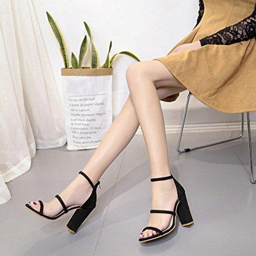 Rawdah Femme à Talons Hauts Avec Une Sandale De Chaussures Bouche Bouche De Poisson Sandals Mode Femmes Dames Zip Sandales Cheville Talons Hauts Block Party Open Toe Chaussures Noir
