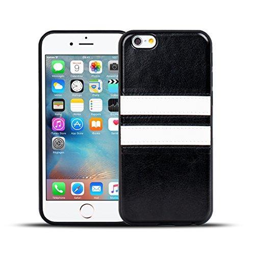iPhone 7 Plus Hülle, Conie Mobile Backcover für iPhone 7 Plus Rückschale Sport Design Case Schutzhülle aus TPU Silikon in Braun Schwarz