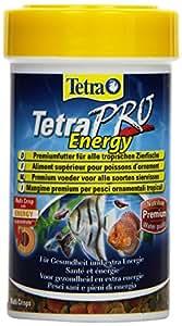 Tetra Pro Energy Premiumfutter (für alle tropischen Zierfische, mit Energiekonzentrat für extra Wohlbefinden, Vitaminstabilität und hoher Nährwert, konzentrierter Nährstoffgehalt Omega-3 Fettsäuren), 100 ml Dose