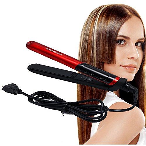 Plancha profesional para el pelo natural, spray de vapor para iPstyle de cerámica iónica, alisador de pelo eléctrico