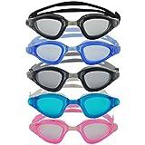 Occhialini da nuoto »Shark«, 100% protezione raggi UV + anti-appannamento. Cinturino resistente in silicone + custodia rigida. PRODOTTO DI ALTA QUALITA'! AF-1800, colore: nero