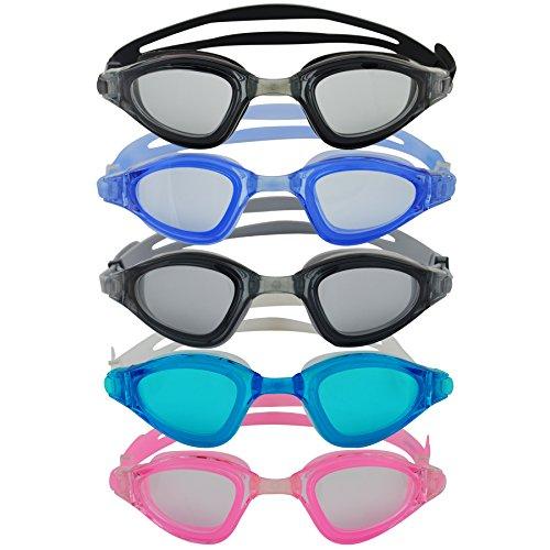 #DoYourSwimming »Shark« Schwimmbrille / 100% UV-Schutz + Antibeschlag/Starkes Silikonband + stabile Box/AF-1800 / blau