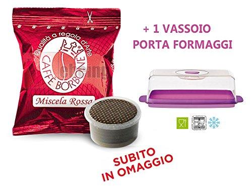 400 Capsule Borbone Miscela ROSSA compatibili espresso point + OMAGGIO VASSOIO PORTA FORMAGGI DA FRIGO