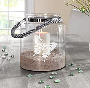 gro es deko glas butterfly k che haushalt. Black Bedroom Furniture Sets. Home Design Ideas