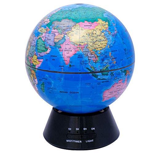 Globus Aroma Diffusoren Ultraschall ätherisches Öl Diffuser Luftbefeuchter kühlen Nebel mit RGB Nachtlicht Aromatherapie Diffusoren wasserlose Auto - Off Luftreiniger für Office Timing Funktion,B