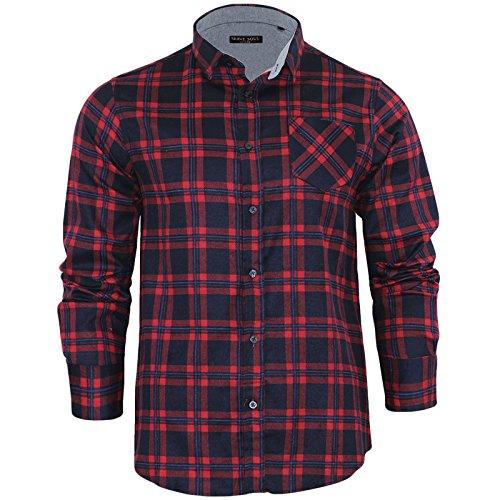 Brave Soul Herren Freizeit-Hemd, Kariert Small Gr. Large, Duffy Red