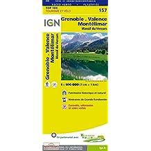 IGN 1 : 100 000 Grenoble Montélimar: Top 100 Tourisme et Découverte. Patrimoine historique et naturel / Courbes de niveau / Routes et chemins / Itinéaires de randonnée / Compatible GPS