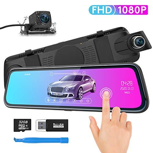 Spiegel Dashcam, ThiEYE Autokamera Video Recorder 1080P Full HD mit 170° Weitwinkelobjektiv,10