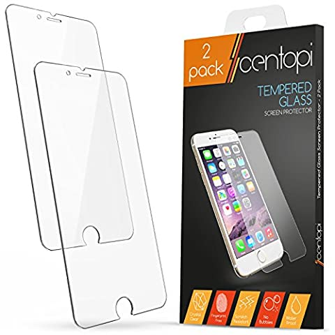 Centopi Film Protection en Verre Trempé iPhone 6 Plus / 6S Plus [Double Pack]