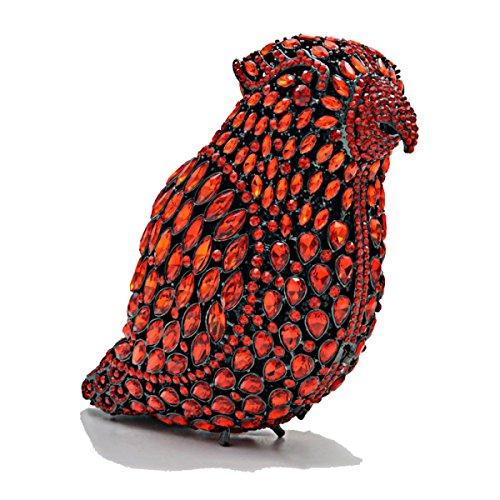 Pu-leder Kupplung Mode Luxus Abendtasche Kette Tasche Voller Diamanten High-end Vogel Handtaschen B