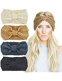 DRESHOW Fasce per capelli da 4 pezzi Fascia elastica per capelli vintage  avvolta con fascia elastica b801066158b4