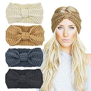 DRESHOW Damen Stirnbänder Elastische Blume Gedruckt Stirnbänder Twist Knoten Haarband Yoga Kopf wickelt Sport Elastic Turban Haar Zubehör