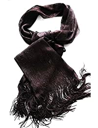 Sparkly Chocolate Brown Evening Shawl wrap glittery scarf shimmer mesh Extra Wide