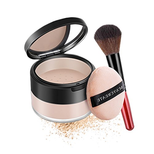 Purebesi Magic Minerals Foundation and Face Powder Oil-control Longlasting Loose Powder Set With Makeup Brush (natural skin with brush)