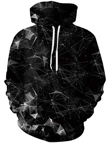 Goodstoworld 3D Hoodie Jungen Geometric Kapuzenpullover Bunt Druck Pullover Sweatshirt Unisex Langarm Fleece Kapuzenjacke Top