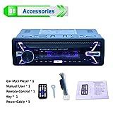 Elviray Auto Lettore MP3 Musica Chiamata Radio FM Ingresso Aux Supporto Rimovibile per Lettore multimediale Stereo Scheda Secure Digital U-Disk
