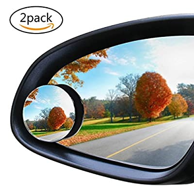 Apriller Upgrade Round-Shape Blind Spot Mirrors,Frameless HD Glass Convex Wide Angle 360°Rotatable Adjustable Stick-On RearView for All Car SUV Trucks Motorcycle-2 Pack - inexpensive UK light store.