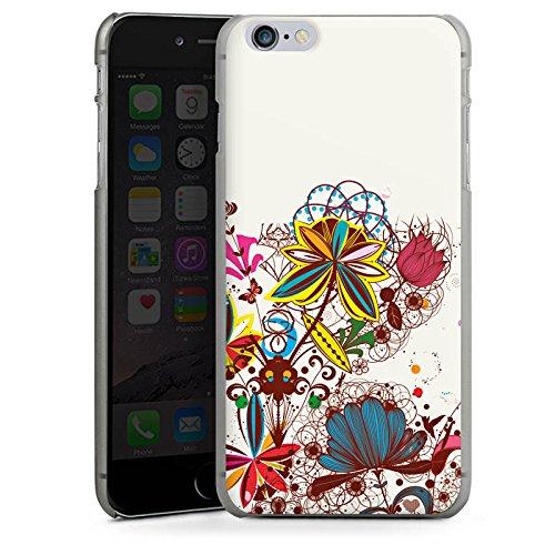 Apple iPhone X Silikon Hülle Case Schutzhülle Blumen bunt blume Hard Case anthrazit-klar