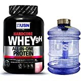 USN Hardcore Whey GH 2kg All in One Whey Protein, Supports Muscle Recovery and Growth,Reduction of Fatigue. Supports a Healthy Metabolism (Strawberry Smoothie)