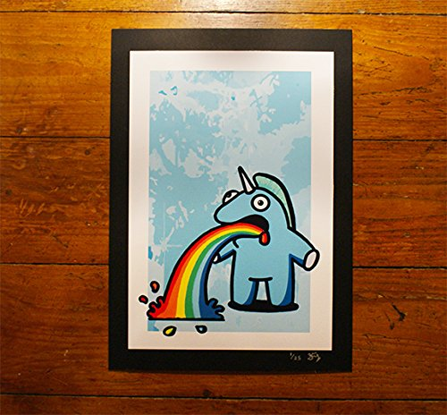 the-sick-unicorn-blue-a4-ltd-edition-print-numbered-of-25-creature-emporium-exclusive-pop-urban-stre