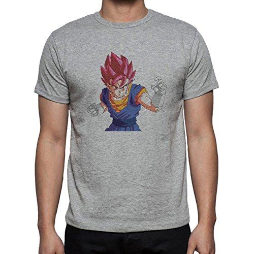 Dragon Ball Super God Vegito Herren T-Shirt Grau