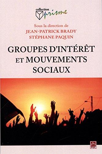 Groupes d'intérêt et mouvements sociaux