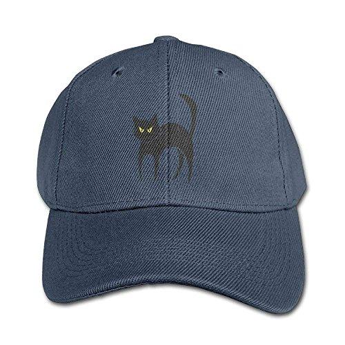 Personality Caps Hats Halloween Black Cat Pure Color Baseball Cap Cotton Adjustable Kid Boys Girls Hat