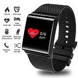 Lige Fitness Trackers HR, Wasserdicht Farbdisplay Aktivitäts Tracker Pulsmesser Blutdruckmonitor,Smart Armband Schrittzähler Smartwatch Fitness Armband Kalorienzähler