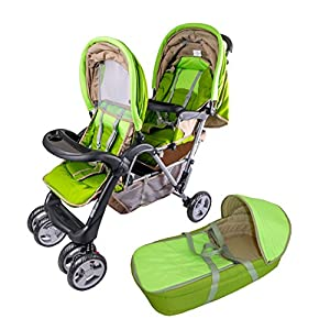 Exclusive Tandem - Twin Pram garden - BambinoWorld kk KinderKraft Mechanism for easy folding with one hand After folding, the stroller resembles a briefcase You do not have to stop and move around the stroller to make eye contact with the child 9