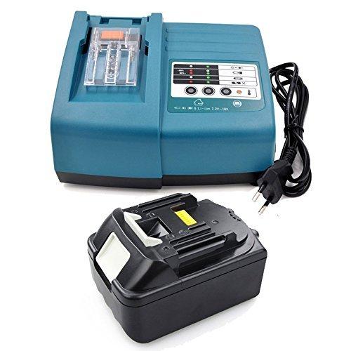 Preisvergleich Produktbild Ersatz Akku und Ladegerät für Werkzeugakkus BL1830 3,0Ah 18V Li-Ion DC18RA DC18RC 194337-6
