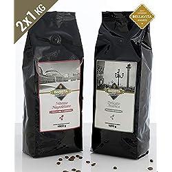 Barista Italiano 2 x 1KG Café en Grains - Goût Premium (VARIÉTÉ DE CAFÉ)