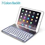 Keyboard Case for 2017 New iPad 9.7 inch & iPad Air-LED 7 Colors