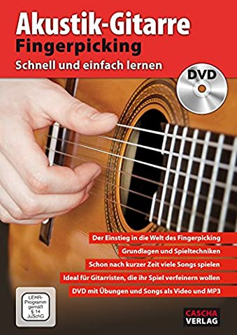 CASCHA Akustik-Gitarre Fingerpicking - Schnell und einfach lernen +