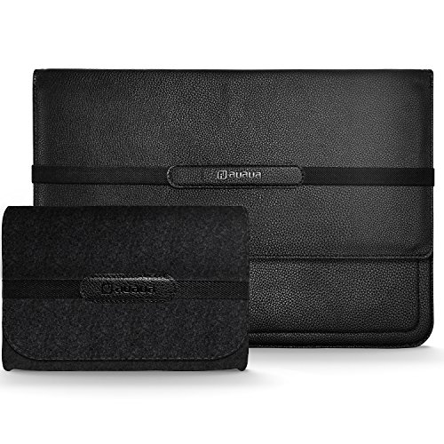 AUAUA MacBook Air 11-12.9 Zoll Laptop Leder Hülle Tasche Sleeve Notebook Schutzhülle für 2017 New 12 inch MacBook / 11.6