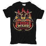 Männer und Herren T-Shirt Feuerwehr - Wo wir sind raucht's !